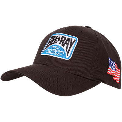 Black Bel-Ray Hat with USA Flag