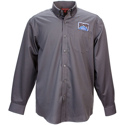 Bel-Ray Mens Long Sleeve Button Down - Grey