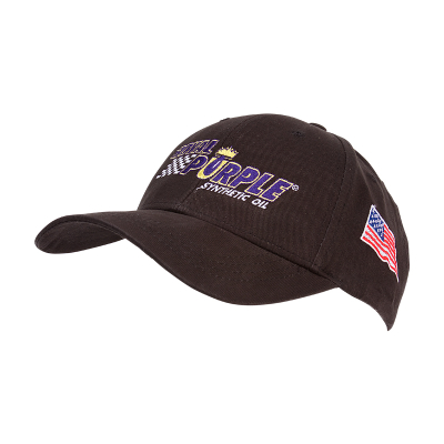 Royal Purple Hat with USA Flag - Black