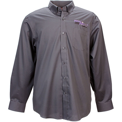 Royal Purple Mens Long Sleeve Button Down - Grey
